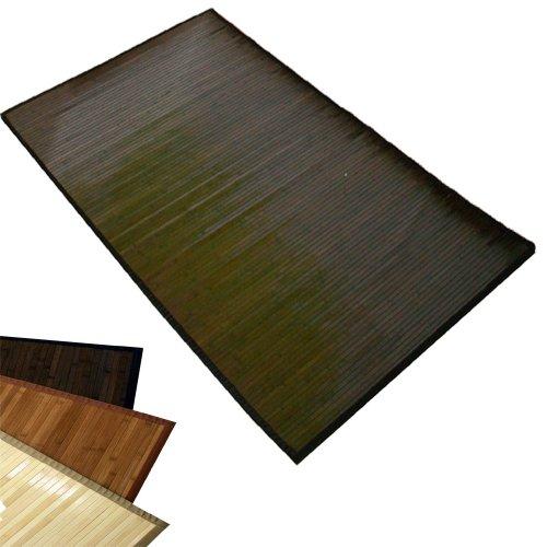 Homestyle4u Tapis en Bambou Natte de Bambou Tapis Bambou 200 x 250 cm Brun foncé