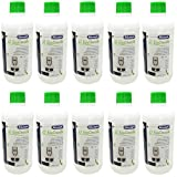 DeLonghi EcoDecalk - Lote de 10 descalcificadores para cafeteras automáticas DLSC500 / 8004399329492 (500 ml)
