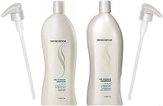 Senscience Silk Moisture Shampoo & Conditioner (33.8oz Each) - With Pumps