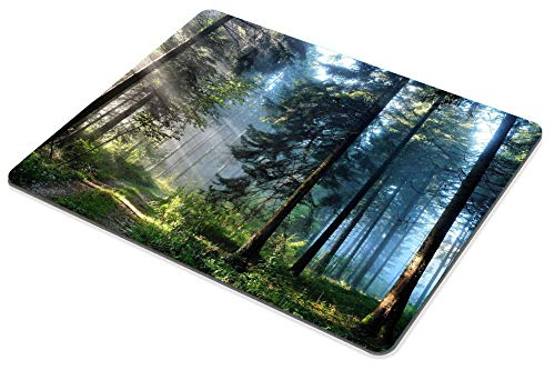 Smooffly Gaming Mouse Pad Custom,Nature Misty Forest Customized Rectangle Non-Slip Rubber Mousepad 9.5 X 7.9 Inch (240mmX200mmX3mm) Photo #6