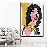 DNJKSA Andy Warhol Kunstwerk Poster Mick Jagger Porträt