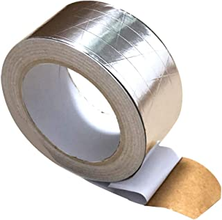 Westspark Fiber-Glass Reinforced Aluminum foil Tape 2 inch 82ft Professional Grade Adhesive Silver Duct Tape Roll for Pipe...
