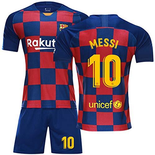 Heren voetbal tricot voetbal uniform - # 10 Lionel Messi Barcelona shirt, alle maten kinderen volwassenen sport voetbal kleding pak 3-4XS