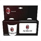 official product Tazza + PORTAMERENDA PORTAPRANZO Milan Prodotto Ufficiale Bianco Due Pezzi PLASTICA