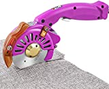 BAOSHSIHAN Electric Rotary Cutter Speed Adjustable Fabric Scissor 100 mm/4 inch Round Knife Leather Cutting Machine Multilayer Fabric Under 27 mm/ 1 inch Available BSS-100 (Purple)