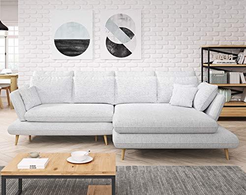 MONTE Modern Corner Sofa Cama Almacenamiento HR Espuma Cualquier Color Piel Sintética / Tela Orientada Básica
