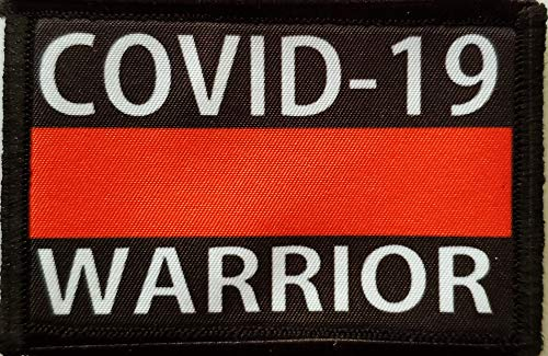 Covid-19 Warrior First Responder Fire Rescue Coronavirus Morale Patch redheadedtshirts Made in The USA