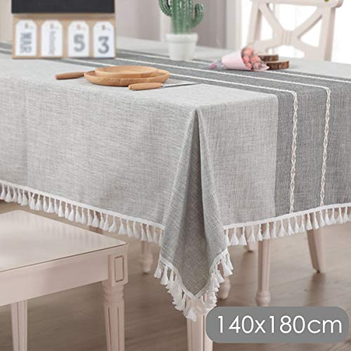 1Pc White Rectangle Tablecloth Cotton Linen Table Cover Cloth coton blanc nappes