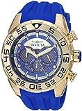 Invicta Men's Speedway Stainless Steel Quartz Watch with Silicone Strap, Blue, 32 (Model: 26302)
