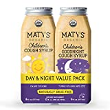 Maty's Organic Children's Cough Syrup Value Pack - Daytime & Nighttime - Made with Organic Honey, Cinnamon, Chamomile & Nutmeg, 2-6fl oz Bottles