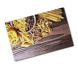 Tulup Tagliere Vetro Temperato - 80x52cm - Copri Piano Cottura - Miscela Pasta