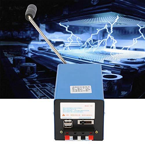 Generatore a manovella, generatore USB, generatore portatile ad alta potenza in miniatura per comunicazioni di emergenza, mancanza di energia a lungo termine, operazioni sul campo, ecc.