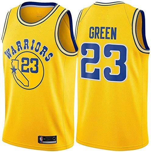 MMQQL Hombres # 23 Green Customized Basketball Jersey Warriors Nuevo 2019/2020 Temporada Trae Fress Sentirse Chaleco Jersey,B,2XL