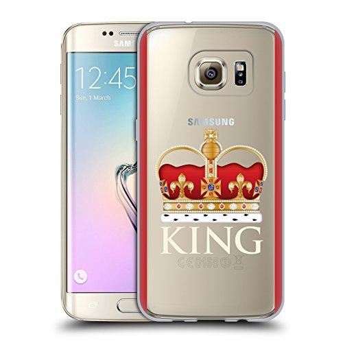 Oficial Emoji® Rey Real Carcasa de Gel de Silicona Compatible con Samsung Galaxy S7 Edge