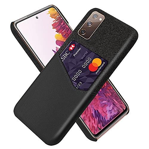 Compatible Con Funda Cartera Samsung Galaxy S20 FE Cuero PU con Tarjetero Bolsillo Ranuras Carcasa para Samsung Galaxy S20 FE Ultrafina 360 Protección Anti-caída (negro)