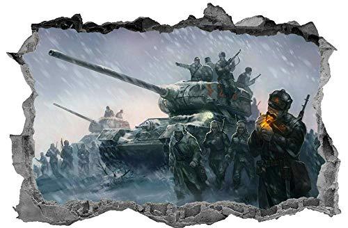 CSCH Army Battle 3D Sticker Decal war Kids Bedroom Tank muralwall Sticker