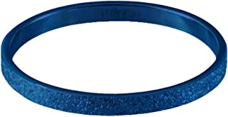 Quiges Stainless Steel Blue Sand Stardust Sparkle Glitter Inner Ring 2mm Height for Stackable Ring Collection