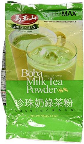 GreenMax Boba Milk Tea Powder 24.5 Oz - Green Tea Flavor