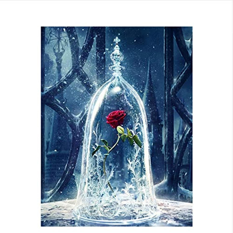 CZYYOU DIY Digitale Malerei by Zahlen Die Flasche Rosa Ölgemälde Wandbild Kits Färbung Wandkunst Bild Geschenk 40x50cm-Mit Rahmen B07PHYZ59Z | Das hochwertigste Material