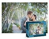 Puzzles personalizados 1000 piezas con foto y texto | Máxima calidad de impresión | Diferentes tamaños disponibles (9 a 2000 piezas) | Tamaño: 1000 piezas (68x48 cm) - Con caja personalizada