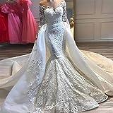 WANGMEILING Vestido de novia blanco Vestido de novia de...