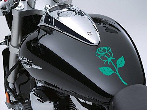 Rose Sticker Moto Réservoir à carburant voiture en 100 mm x 170 mm – Turquoise Rose