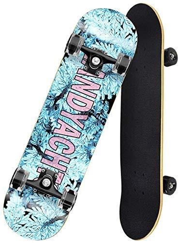 LFLLFLLFL Skateboard Monopatin Niños 7 Capas monopatín 31 Pulgadas Trucos completos Skate Board Brush Street Cruiser para Adolescentes Principiantes para Chicas niños niños Adolescentes Adultos