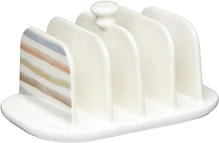 Preisvergleich für Kitchen Craft Toastständer für 4 Stück aus Keramik, Mehrfarbig 12.5 x 10 x 9 cm