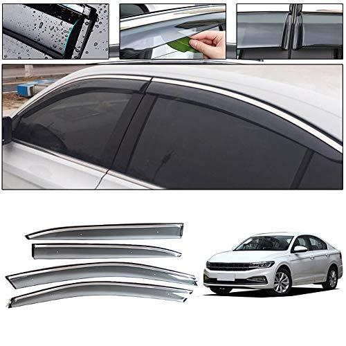 saitake Windabweiser Für Volkswagen Bora Plus 2019 Autofenster Visier Sonne Regen Rauchabzug Schatten Klebeband Außenvisiere
