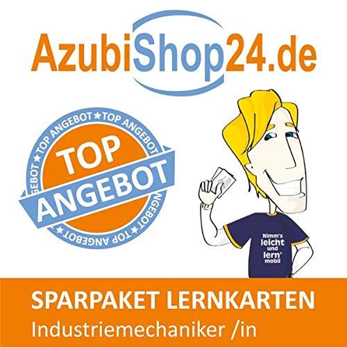 AzubiShop24.de Spar-Paket Lernkarten Industriemechaniker /in: Erfolgreiche Prüfungsvorbereitung auf die Abschlussprüfung