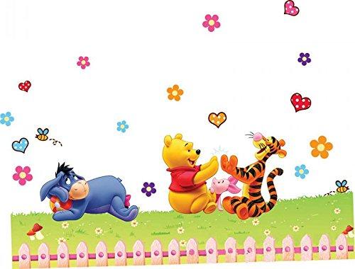 ZuoLan 1pcs Winnie l'ourson Sticker Mural Amovible réutilisable pour Enfants/Garçons/Filles/Décoration Maison Chambre (#F)