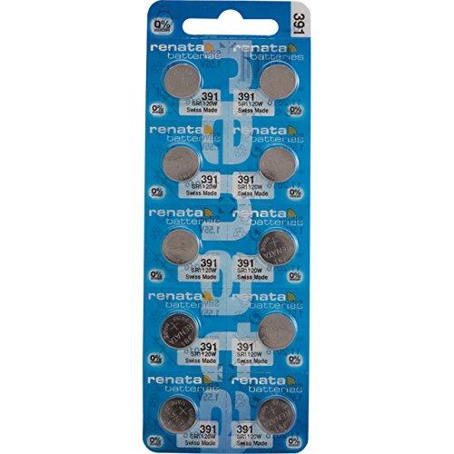 Renata 391nicht aufladbaren Akku, Uhr, einzelne Zelle, Silberoxid, 50mAh, 1,55V, SR55, Flat Top, 1 pack, 1
