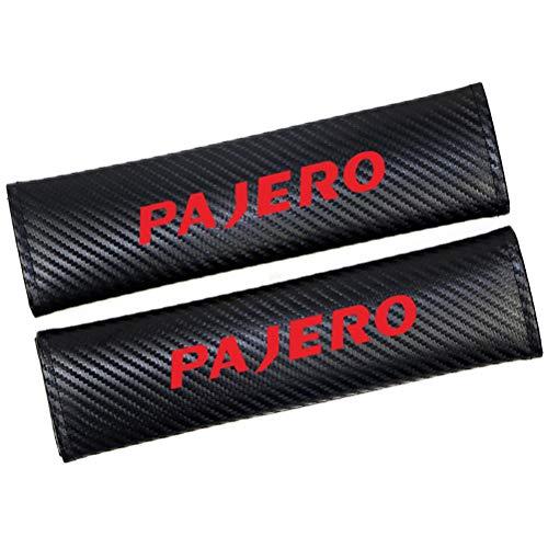QIEP 2pcs Auto Sicherheitsgurt Gurtbezug Sicherheitsgurt Schulterpolsterabdeckungen Auto Styling FüR Mitsubishi Pajero