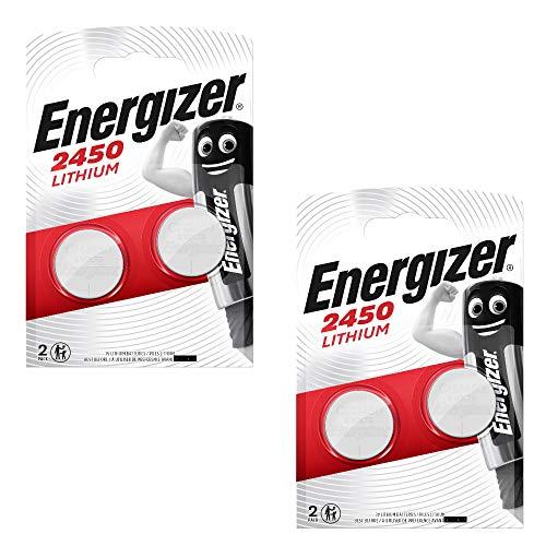 Energizer 2450 CR2450 Premium Lithium 2x2er Set (4 Stück Batterien)