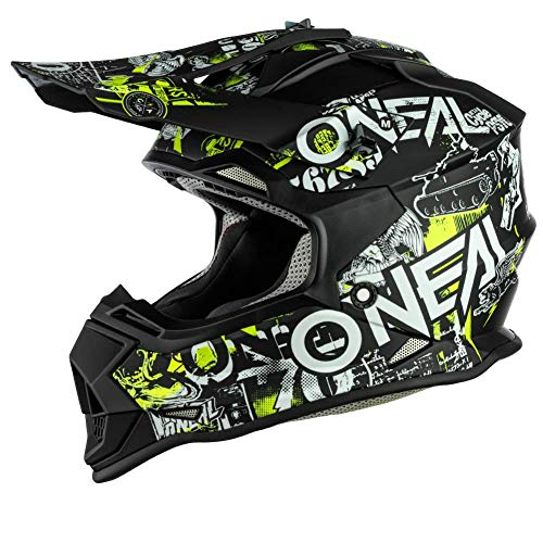 2SRS Youth Helmet ATTACK black/neon yellow L (53/54 cm)