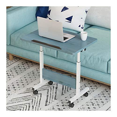 LAA Ajustable Mesa De Ordenador Portatil, con Bisel for Evitar Caídas, Altura Ajustable Escritorio Multifuncional Mesa Cama Ruedas (Color : Blue)