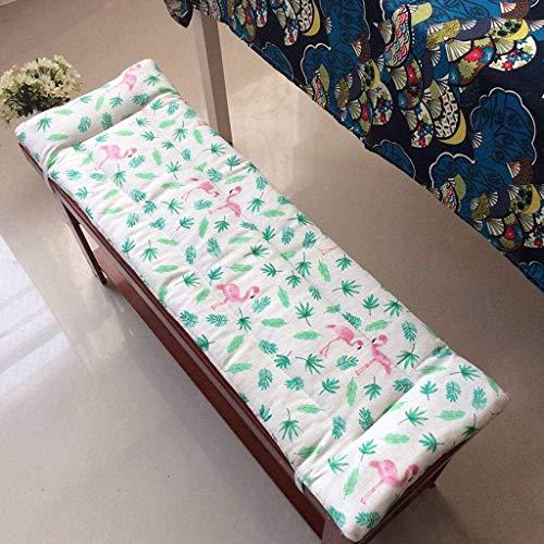 APAN Garden Rectangle Sitzbankkissen,rutschfeste,Dicke,weiche Patio-Sitzmatte für den Garten im Innenbereich-120 * 30 cm(Style6)
