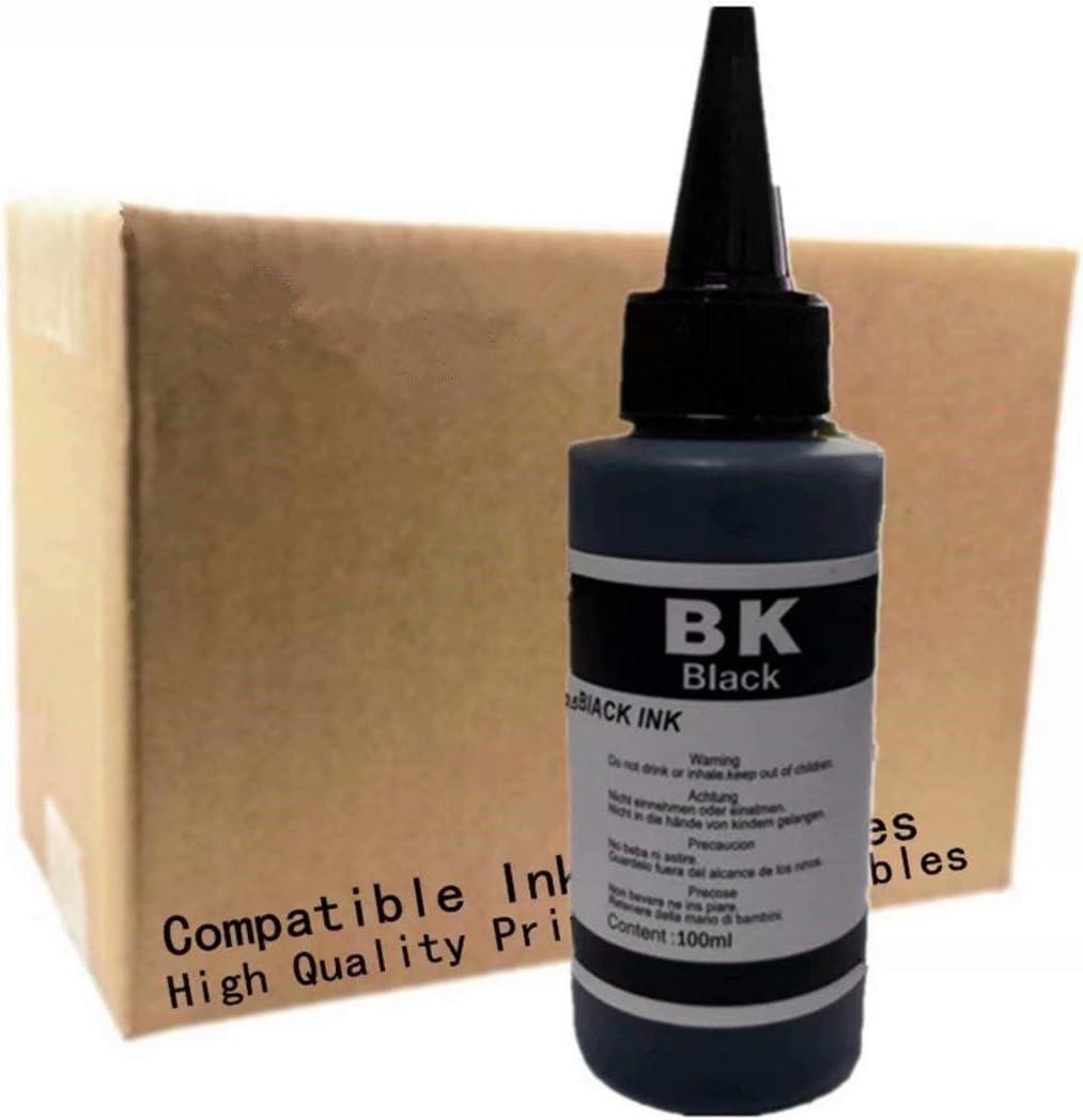 Universal Refill InkSuit for Canon for HP for Brother Inkjet Printer (100ML 1 Set 1 Black 5 Pcs)
