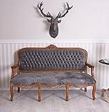 Unbekannt sofá terciopelo Salon sofá Antiguo Barroco sofá