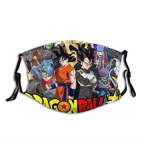 Dragon Ball bandas elásticas ajustables para hombres y mujeres decoración facial, neutral y reutilizable elegante funda lavable