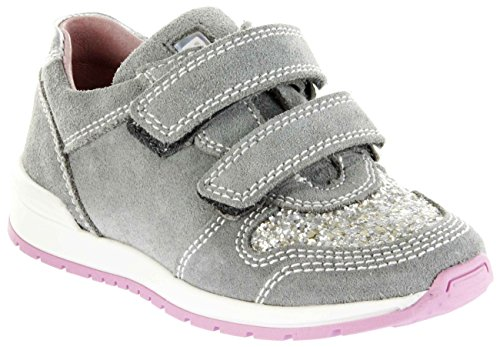 Richter Kinder Halbschuhe Sneaker grau Velourleder Mädchen Schuhe 3331-342-6101 Rock Volley, Farbe:grau, Größe:33 EU