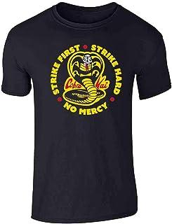 Cobra Kai Karate Kid Merchandise Retro No Mercy Graphic Tee T-Shirt for Men
