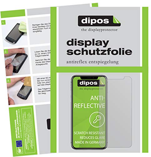 dipos I 5X Schutzfolie matt kompatibel mit Apple iPhone 11 Folie Displayschutzfolie (bewusst Kleiner als das Glas, da Dieses gewölbt ist)
