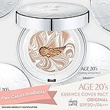 Maquillaje Corrector Compacto para los 20s de Alta Calidad, - + 1 Relleno - Esencia de Cobertura Latte Blanco SPF50 + (Hecho en Corea) - Color nº 25 - Latte Blanco/Beige Profundo