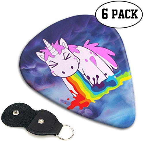 Unicorn Spit Rainbow 351 Shape Classic Celluloid Guitar Picks For Guitar Bass 6 Pack .46mm