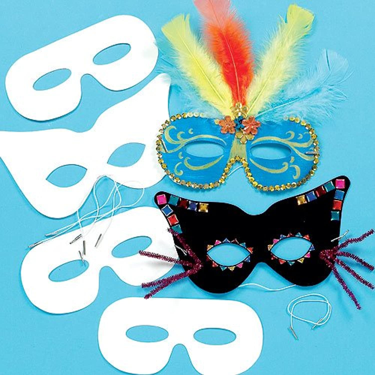 Baker Ross Decorate your Own Eye Masks (Bulk Pack Of 36) Buy offers For Kids To Decorate And Fancy Dress
