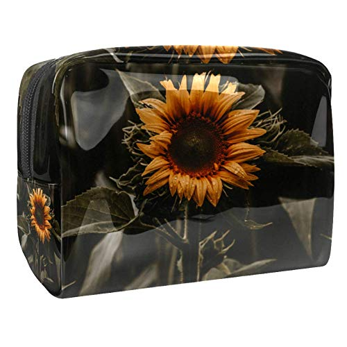 Maquillage Cosmetic Case Multifunction Travel Toiletry Storage Bag Organizer for Women - Sunflower Retro