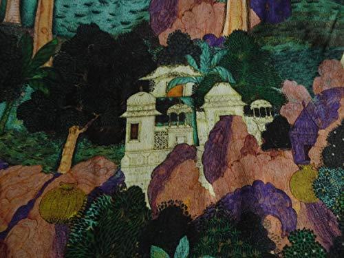 Viskosestoff, Landschaft, grün, türkis, Burda Style