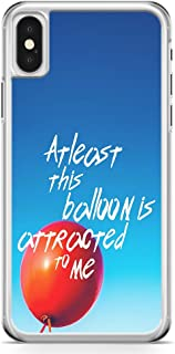 iPhone X Transparent Edge Phone Case Baloon Phone Case Attracted Phone Case Love iPhone X Cover with Transparent Frame