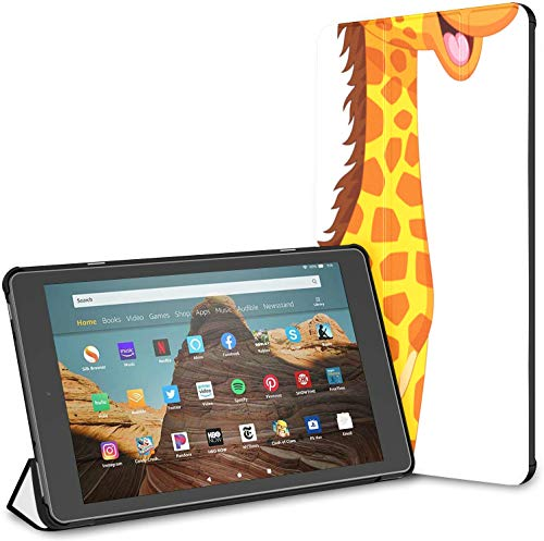 Estuche para Tableta Giraffe Fire HD 10 de Viaje al Aire Libre Adorable (9a / 7a generación, versión 2019/2017) Estuche para Kindle para niños Estuche para Kindle 10 con Soporte Auto Wake/Sleep par